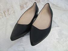 BENZHOU Handmade Shoes BLACK FLATS Slip on Career Walking 6 ½-7 Comfy NEW Pointy