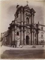 Italia Sicilia Cattedrale da Siracusa Foto Alinari Vintage Albumina C 1875