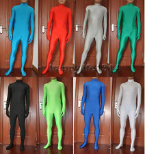 Halloween Party Lycra spandex zentai costume Skin bodysuit headless size S-XXL