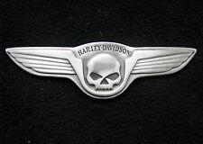 HARLEY-DAVIDSON MOTOR MEDALLION SKULL & WINGS   PLAQUE