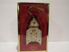 Lenox Commemorate 2001 Rocket Ship Holidays Christmas China Ornament Trinket Box