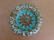"""Carlsberg, psychedelic """"studio pottery"""",  ashtray"""