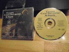 RARE PROMO Tom Cochrane CD single No Regrets RED RIDER Loverboy Streetheart CULT