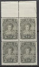 #78 Mint Never Hinged Very Fine Upper Right Corner Block of 4 with cutting Arrow