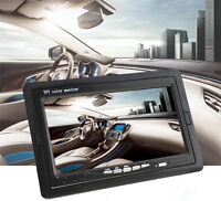 7'' TFT LCD  Color 2 Video Input DVD VCR Car Rear View Headrest Monitor 1024x600