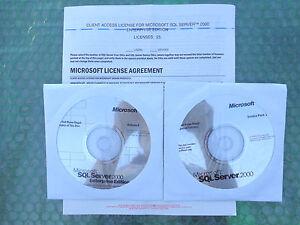 Microsoft SQL Server™ 2000 Enterprise Edition(New ! sealed CD +Key Code +25 CAL)