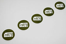 5 Green PVC NFC NXP NTAG213 30mm Tag Sticker  : Samsung Nokia Sony LG