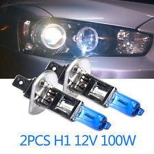 2x H1 12V 100W Halogen White 6000k Head Light Lamp Globes Bulbs Fog Car Bulbs