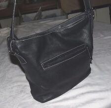 Giani Bernini Vintage Black Leather Shoulder Bag Handbag