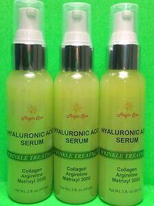 3*2oz. Hyaluronic Acid Hydrating Anti-aging Cream Collagen Argireline Matrixyl