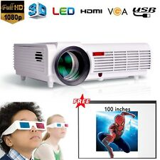 5000 Lumens 1080P Full HD Home Theater HDMI LED 3D USB Projector Business Screen