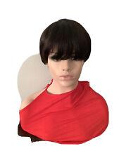 Pixie Corte Corto Pelucas Mujer Damas Reino Unido 100% cabello humano Real Remy Peluca naturblack
