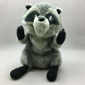 Raccoon Plush Stuffed Animal Toy Meeko Pocahontas Disney Gray Black