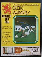 Rangers v Celtic Scottish Cup Final Programme 07/05/77