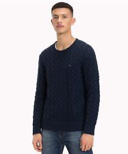 Pullover Tommy Jeans DM0DM05078 Herren Hilfiger Rundhalsausschnitt Blauer Trecci