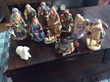Home Interiors HOMCO 2002 Nativity Set 12 Piece With Original Box