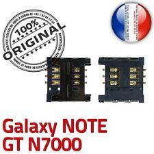 ORIGINAL Samsung Galaxy Note N7000 Connecteur Carte SIM à souder Contacts Dorés