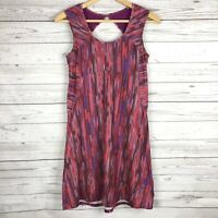 PrAna Womens Alec Dress Size XS Azalea Rainblur  Cut Out Back Purple Pink