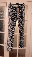 Animal Print Leggings size XXL (2XL) new with tag cream and black
