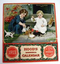 "Vintage 1913 Ad Calendar for ""Hood's Sarsaparilla Calendar"" - The Dinner Bell"" *"