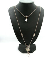 BEAUTIFUL EGYPTIAN REVIVAL SCARAB BEETLE VINTAGE FAUX PEARL DROP NECKLACE