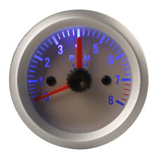 "2"" 0~8000RPM Blue Light Auto Car Tachometer Tach Gauge with Holder Cup 52mm US"