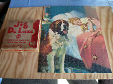 Vtg Jigsaw Puzzle The St. Bernard from Painting by L. H. Dude Larsen 1930s - 40s