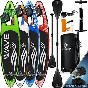 KESSER® SUP Board Set Stand Up Paddle aufblasbar Sichtfenster Surfboard Paddling