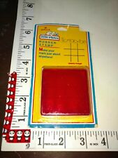 Vintage Hallmark, little inkers, tic-tac-toe, package,907, wood rubber stamp