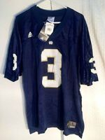 Adidas NCAA Jersey NOTRE DAME Fighting Irish  3 Navy sz 2X 166c2772e