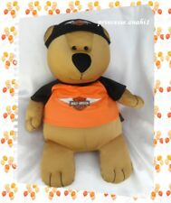 Peluche Doudou Ours Harley-Davidson