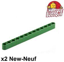 Lego Technic - 2x Liftarm 1x13 thick épais vert/green 41239 NEUF