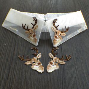 Elk Fashion Collar Mouth Decoration Embroidery Stickers Cloth Stickers Patch