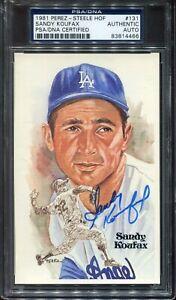 1981 Perez Steele SANDY KOUFAX PSA/DNA AUTOGRAPHED Signed AUTO Card