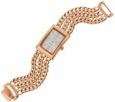 """ECCLISSI ROSE PLATED STERLING SILVER MULTI-STRAND 7-1/2"""" BRACELET WATCH QVC $232"""
