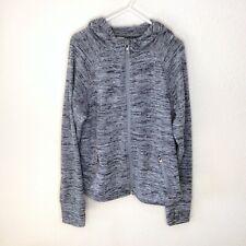 Athleta Girl Gray Zip Hooded Sweatshirt Size Medium 8 10