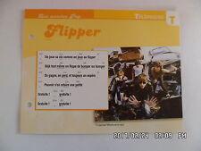 CARTE FICHE PLAISIR DE CHANTER TELEPHONE FLIPPER