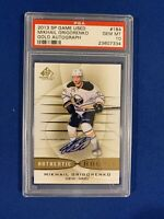 MIKHAIL GRIGORENKO PSA 10 2013-14 SP GAME USED AUTOGRAPHED ROOKIE CARD #184