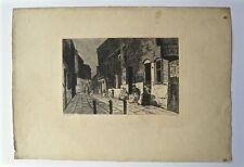 Eau-Forte, Rue et personnages , A.A. Lançon, XIXème