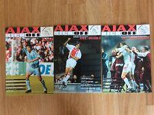 3 PROGRAMMI CALCIO AJAX VS. INTERNAZIONALE INTER F.C. WILLEM II AZ 67     F.E.