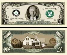 42nd President Bill Clinton Million Dollar Funny Money Novelty Note +FREE SLEEVE