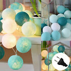 COTTON BALL FAIRY LED STRING LIGHTS PARTY PATIO WEDDING Club Christmas DECOR HOT