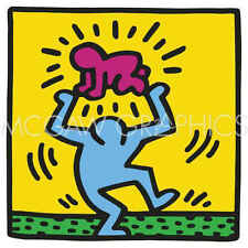 Keith Haring KH09 Abstract Contemporary Figure Child Kid Print Poster 11x14