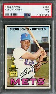 1967 Topps #165 Cleon Jones PSA 7 NM