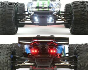 LED Lights Front And Rear Traxxas E-REVO 1.0 2.0 VXL 1/10 waterproof by murat-rc