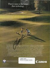 Mize, Larry auto on 10/20/96 Disney Classic 8 1/2x 11 tour mazazine inside cover