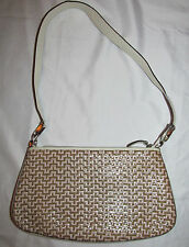 0680ed6914 BARBARA MILANO woven shoulder leather designer bag purse