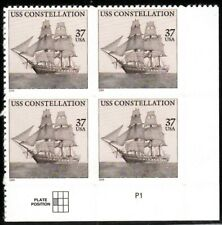 USS Constellation - Scott #3869 Plate Block of 4 Stamps MNH
