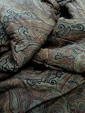 Ralph Lauren Home Paisley Full/Queen Comforter Multi Colored Pre Owned