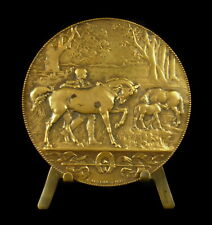 Médaille Cheval Elevage c Degeorges 1887  Dr Debeve Medal Breeding horse horses